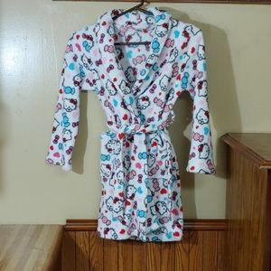 Sanrio Hello Kitty Girls Fleece Robe M